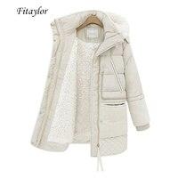 Fitaylor hiver femmes vestes grande taille coton manteau rembourré moyen Long Slim à capuche Parkas femme chaud neige vêtements d'extérieur décontractés