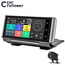 자동차 DVR 안 드 로이드 4G 후면보기 카메라 7 인치 전체 IPS 터치 스크린 대시 캠 GPS Navi ADAS 듀얼 렌즈 자동차 카메라 탐색