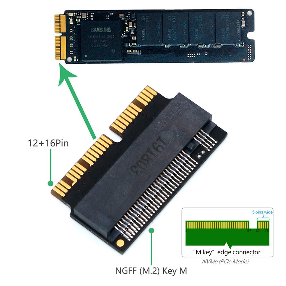 M.2 NVME SSD Convert Adapter Card For M AcBook Air Pro Retina 2013-2017 NVME/AHCI SSD Upgraded Kit For A1465 A1466 A1398 A1502