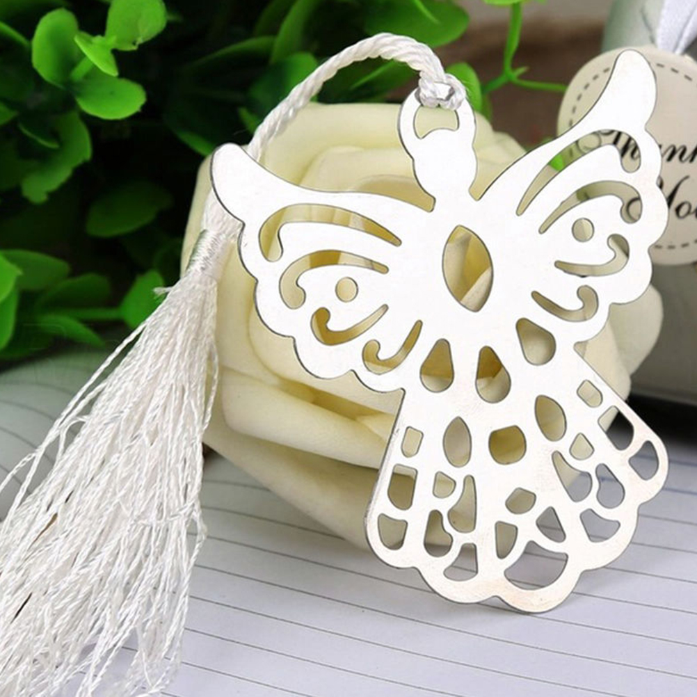 Angel Eagles Tassel Stainless Steel Bookmark School Supplies Page Holder With Gift Box Size: 6.6*7.0cm