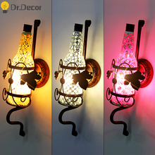 Modern Vanity Light Wall Lamp Aisle Party Club Decorative Wall Light Industrial Stairs Led Light Mirror Lights Wall Sconce Lamp