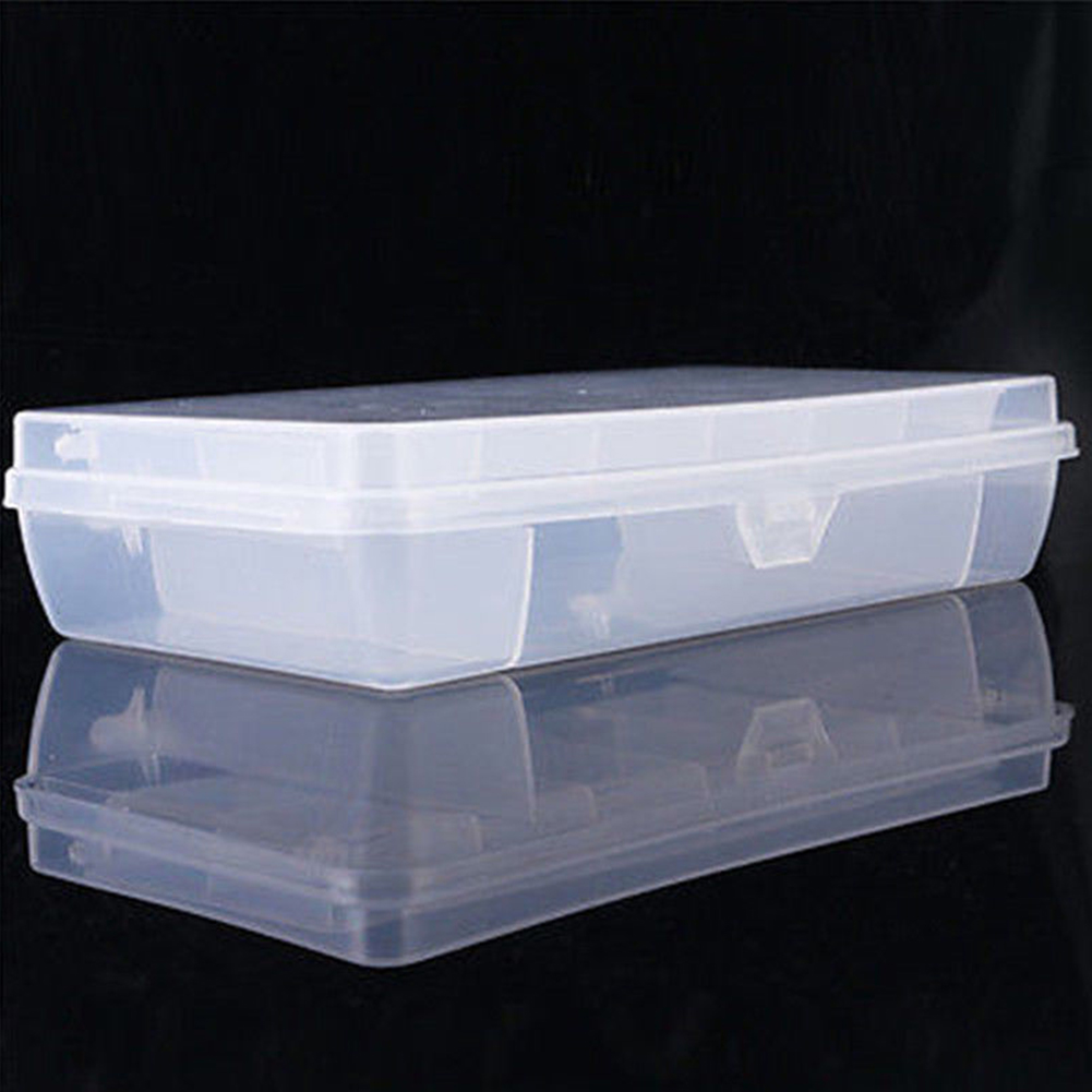 Strorage Compartments Outdoor Small Double Layer Camping Durable Transparent Plastic Fishing Tools Bait Box