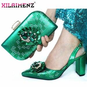 Image 3 - Reife Spezielle Design Zwiebel Farbe Schuhe Und Tasche Zu Passen Set Nigerian High Heels Party Schuhe Und Tasche Set Für hochzeit Kleid