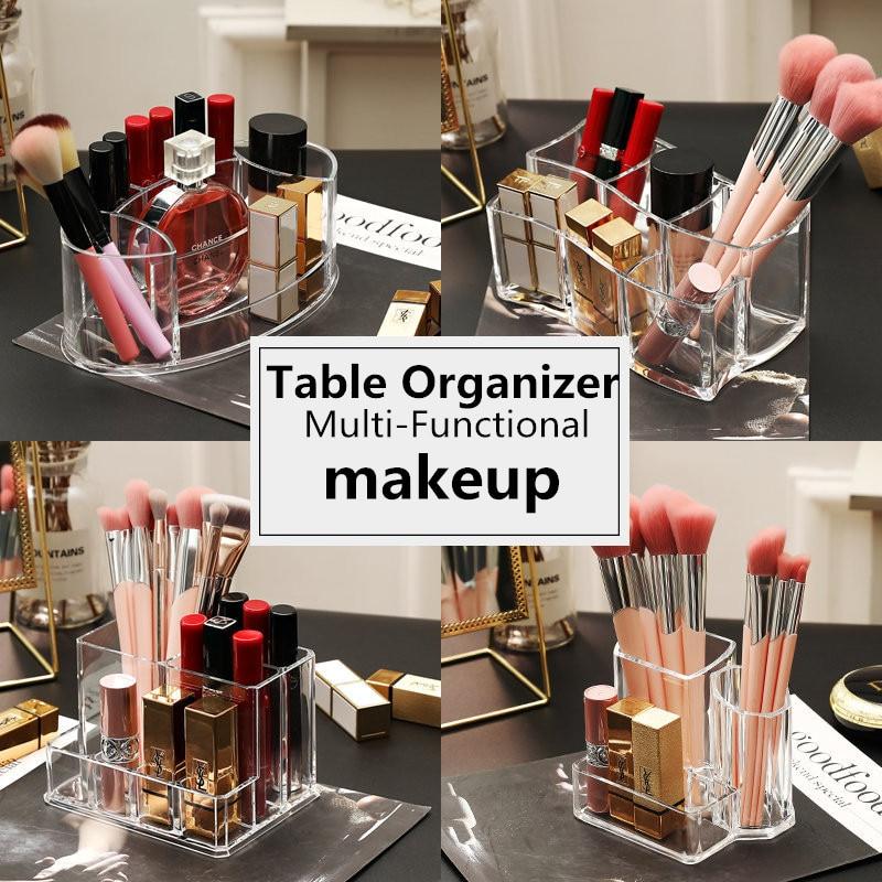 Multi-varieties Acrylic Makeup Organizer Table Cosmetics Storage Box For Makeup Brush/Lipsitck/Nail Polish Portable Makeup Box