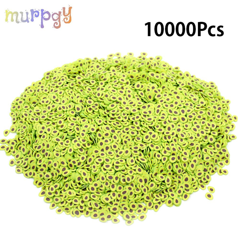 1000pcs Avocado Fruit Slices All For Slime Additives Contain Slimes Charms Fillers For Nail Art Supplies Access Decor Toys