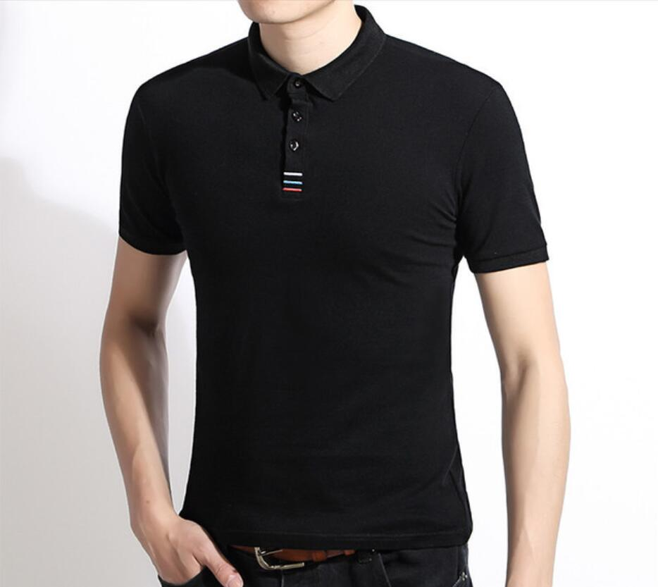 2019 New CX99 Men Summer Print   Polo   Shirt Short Sleeve Slim Fit   Polos   Fashion Streetwear Tops Men Shirts Sports Casual Shirts