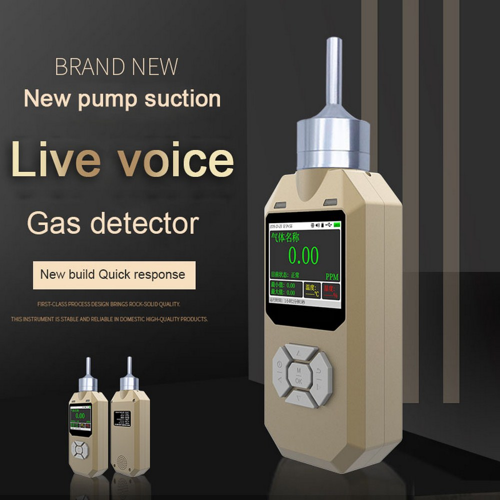 Gas Detector O3 Ozone Monitor Accuracy 0.01ppm Pump Suction Sound Light Shock Alarm Gas  Sensor Professional O3 Gas Analyzer