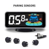 Sondas de coche con 8 sensores electromagnéticos, Detector de punto ciego automático, retroiluminación de movimiento, Kit de zumbador de voz