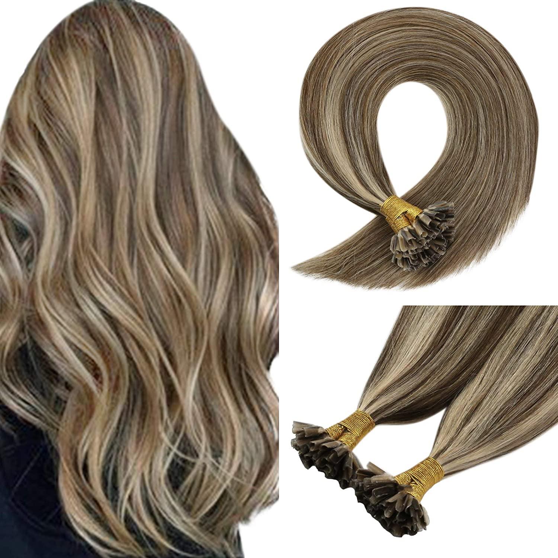 VeSunny U Tip Hair Extensions Pre Bonded Extensions Hot Fusion Hair Extensions  Remy Hair Extensions Nail Tip Pre Bonded Hair