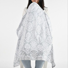 Apron Cape Feeding-Cover Nursing-Cloth-L Infant Baby Breathable Muslin Cotton Big Large-Size