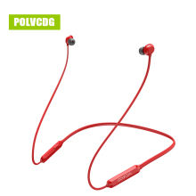 POLVCDG P03 Red Sports Music Bluetooth Earphones Wireless Sweatproof Headset Stereo Earbuds V5.0 with Microphone