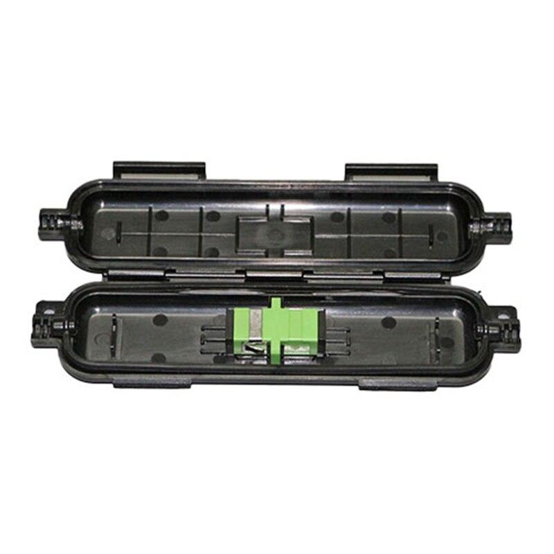 20 Pieces SC APC Fiber Protect Box White/Black Color SC APC SM FTTH Fiber Accessories Fiber Drop Cable Protection Box