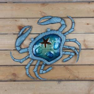 Image 3 - クリスマスギフトの金属蟹壁の装飾のためのアートワーク彫像ミニチュア装飾屋外彫刻