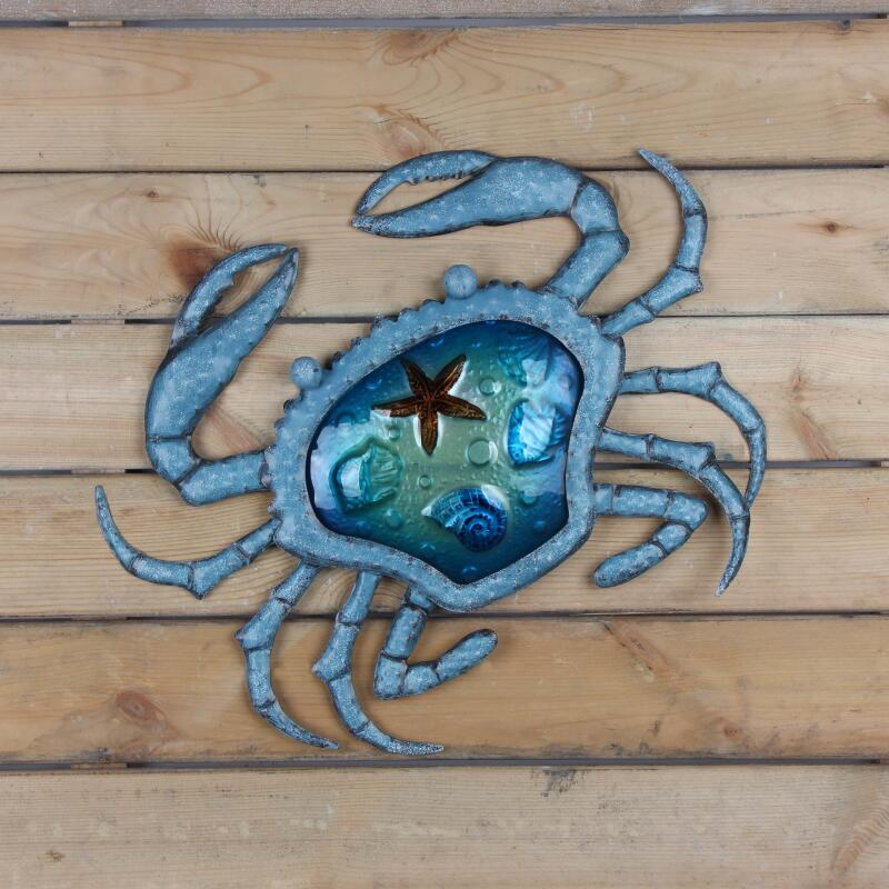 Image 5 - Liffy Metal Crab Wall Decoration Outdoor for Home Garden Decoration Statues and Miniatures Sculptures-in Garden Statues & Sculptures from Home & Garden