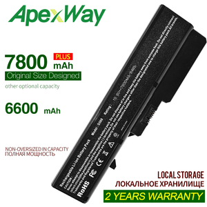 ApexWay 9C 7800mAh l09m6y02 laptop battery for lenovo z570 g560 b570e g780 g770 z560 L08S6Y21 57Y6454 57Y6455 L09L6Y02 E47G