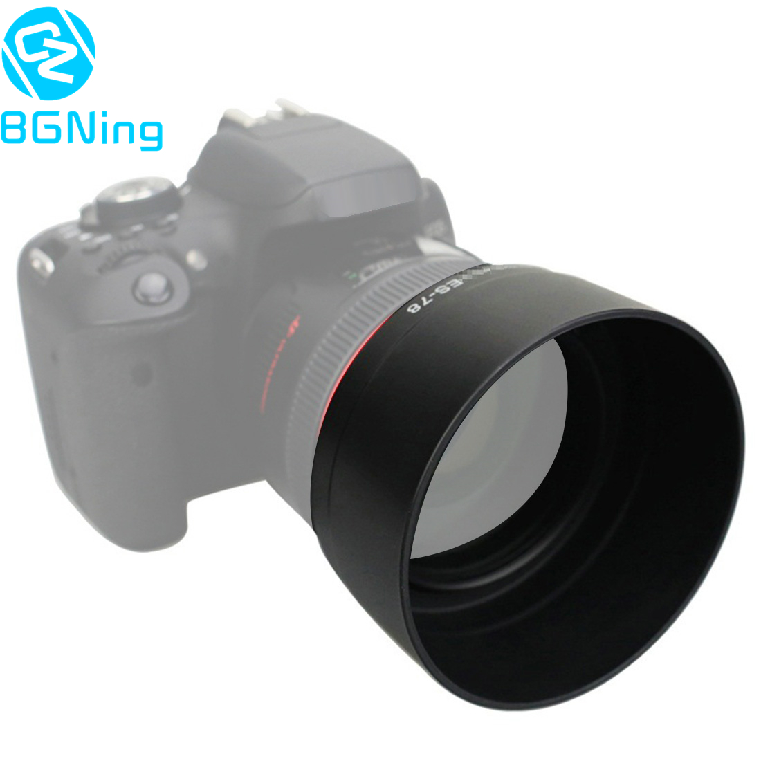 BGNing <font><b>Lens</b></font> Hood Replace ES-78 for Canon EF 50mm f/1.2L USM / <font><b>50</b></font> <font><b>mm</b></font> F1.2L USM <font><b>Lenses</b></font> 72mm ES78 Reversible Camera Shade Protector image