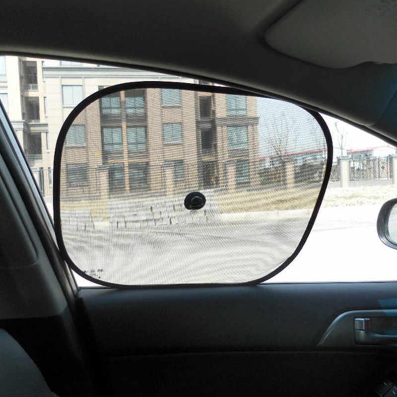 2 sztuk samochodów boczna szyba czarna siatka parasol przeciwsłoneczny Visor Anti-UV pokrywa tarcza dla dziecka Visiere ochrony osłona przeciwsłoneczna jazdy cień Visor