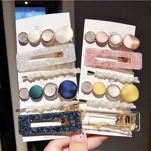Jewelry-Accessories Headband Hairpins-Barrettes Hair-Clips Pearl Women Girls Fashion