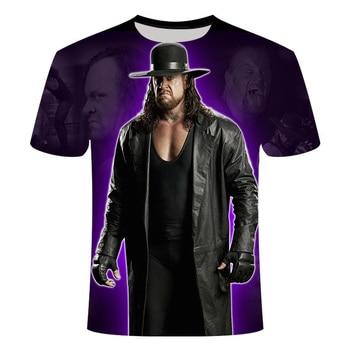 New hot sale short sleeve WWE Undertaker 3D printed men short sleeve round neck T-shirt casual hip-hop summer T-shirt top wrestl цена 2017
