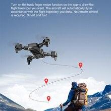 Флэш-Квадрокоптер с двойной Камера 4K 1080P HD мини складной Дрон с дистанционным управлением с 2000 мА/ч, сменные Батарея аэрофотосъемки Flycam