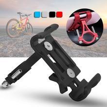 купить Universal Aluminum Non-skid Bicycle Phone Holder For iPhone Samsung Mobile Phone Holder GPS Mount Rack Bike Handlebar Clip Stand дешево