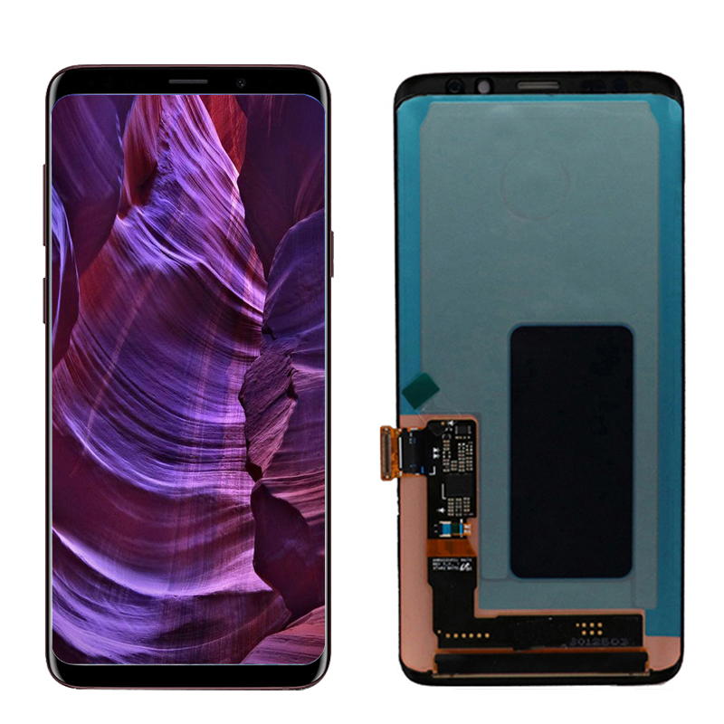 Original Display with frame for SAMSUNG Galaxy S9 G960 S9 Plus G965 G965F LCD Touch Screen Digitizer Assembly Burn In Shadow