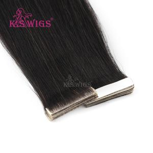 Hair-Extensions Hand-Tied-Tape Adhesive Seamless Invisible Double PU K.S WIGS Skin-Weft-Hair