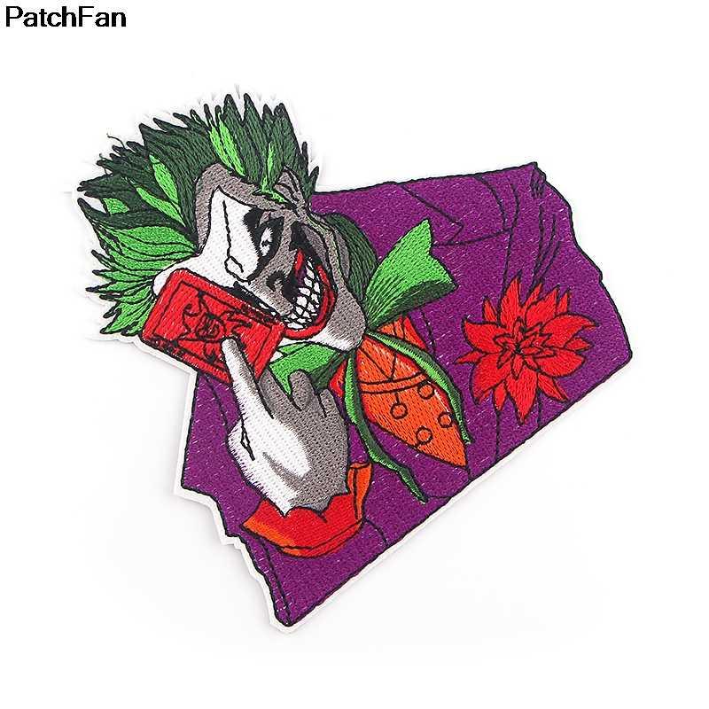 A2578 Patchfan Joker Thêu Hoạt Hình Miếng Dán Sắt Trên Phổ Biến Cho Mũ Túi Đựng Giày Táo Thêu Phụ Kiện