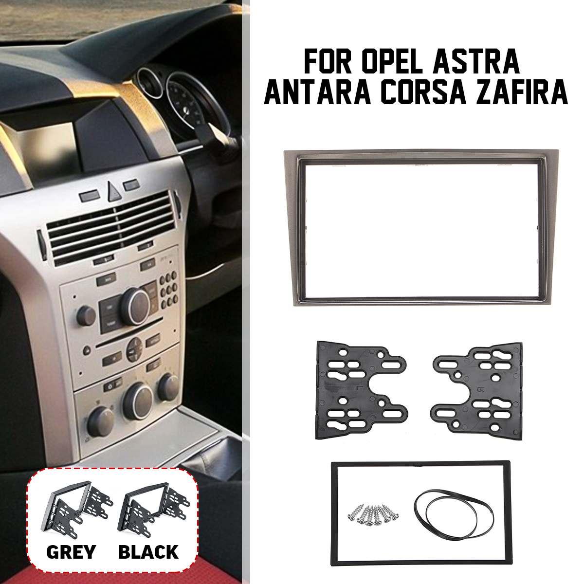 2 DIN รถวิทยุ Fascias แผงกรอบ CD DVD Dash Audio COVER Trim สำหรับ Opel Astra Antara corsa Zafira