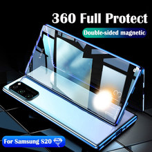 Coque métallique à absorption magnétique 360 ° pour Samsung Galaxy S20 plus S20Ultra, étui de téléphone magnétique avec Protection d'objectif