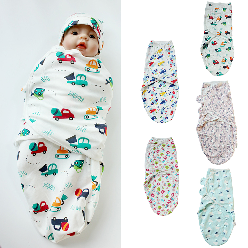 Bedding Newborn Baby Swaddle Wrap Blanket Breathable Sleep Sack Soft Printed Adjustable Wings Shower Gift Parisarc 3-8 Month