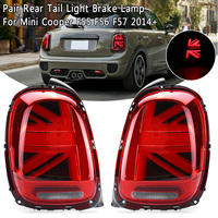 2PCS MINI LED for F55 F56 F57 tail lights for BMW mini F55 F56 F57 cooper For 2014 up LED rear lamp tail LED lamp Reverse Lamp
