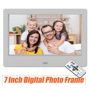 New7 inch LCD Digital Photo Picture Frame Clock MP4 Movie Player Remote Control HD Remote Control Button Digital Photo Frame