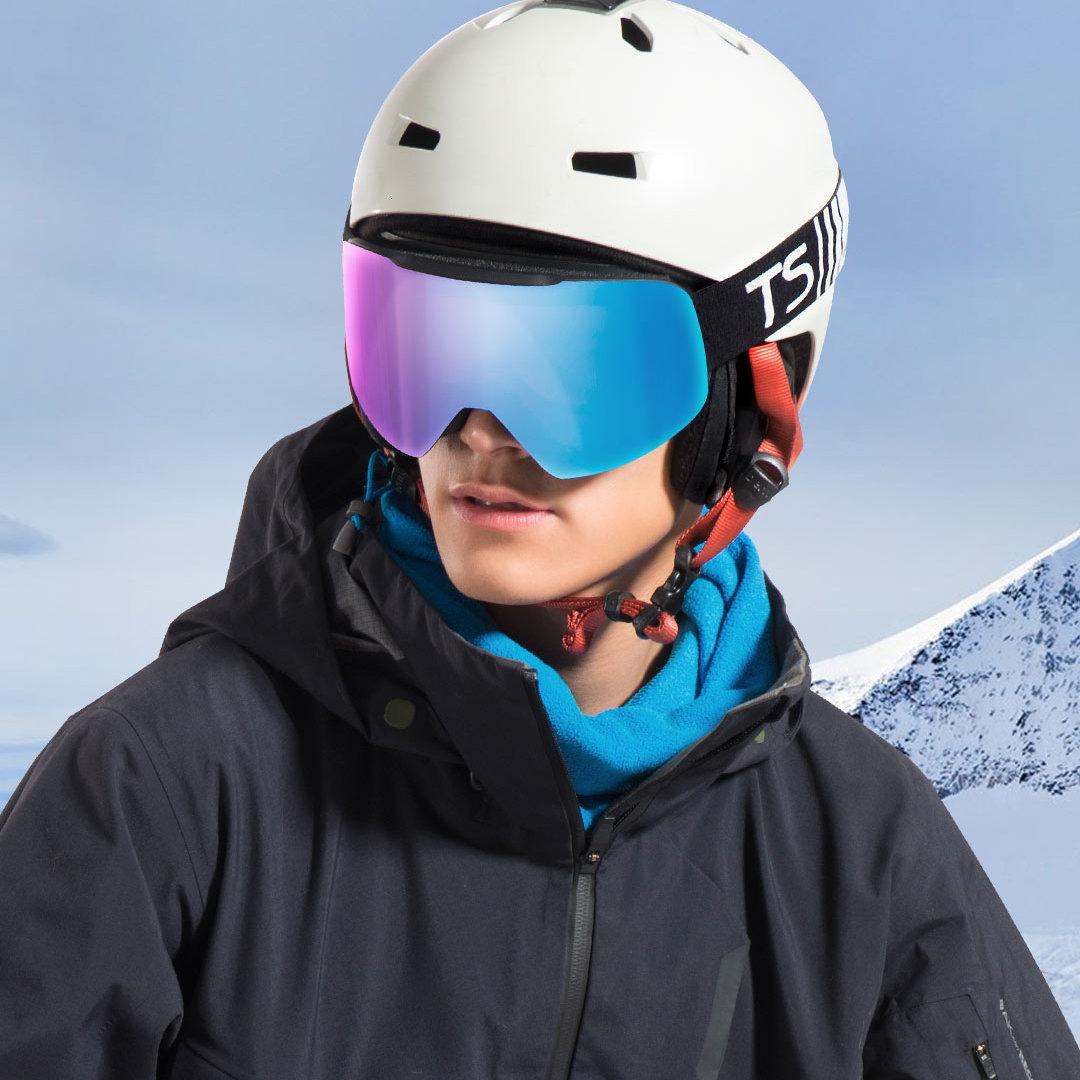 Xiaomi TS cylindre neige miroir cylindrique neige miroir Uv + antibrouillard résistance aux chocs légèreté Xiomi verre pour enfants adulte - 4