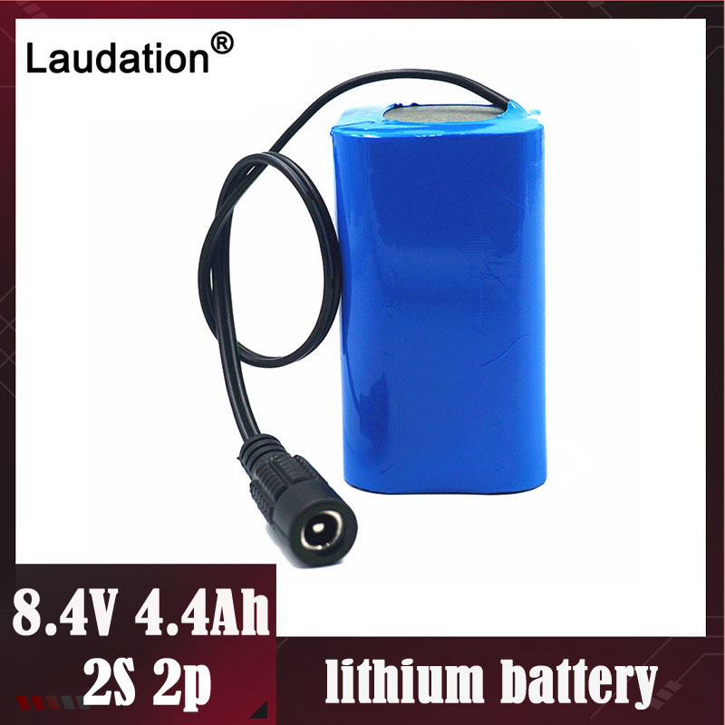 Free ship <font><b>7.4V</b></font> /8.4V <font><b>Battery</b></font> 4.4Ah /<font><b>4400mAh</b></font> 18650 Rechargeable <font><b>Batteries</b></font> For Bicycle Headlights/CCTV/Camera/Tools/LED laudation image