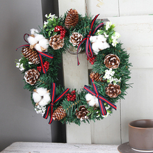 Christmas Wreath Garland Tree Hanging Fireplace Cane Home Garden Decor Ornaments