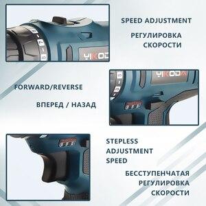 Image 4 - YIKODA 16.8V tournevis électrique batterie au Lithium perceuse sans fil Rechargeable Parafusadeira Furadeira ménage bricolage outils électriques