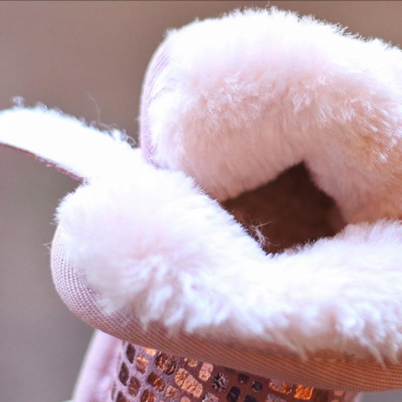 Sequins Non-Slip Soft Bottom Cotton Boots 6