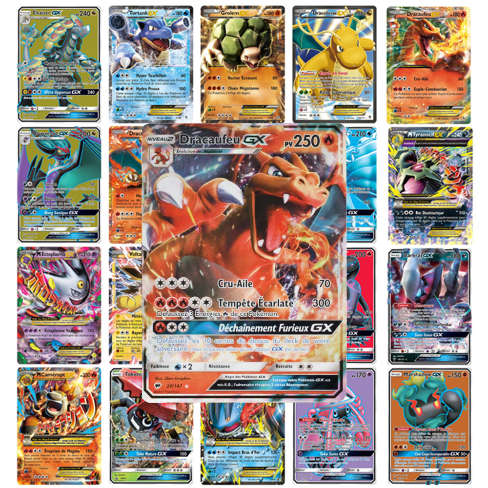 new-font-b-pokemon-b-font-french-card-lot-featuring-60-gx-20-ex-20-mega-carte-card-game