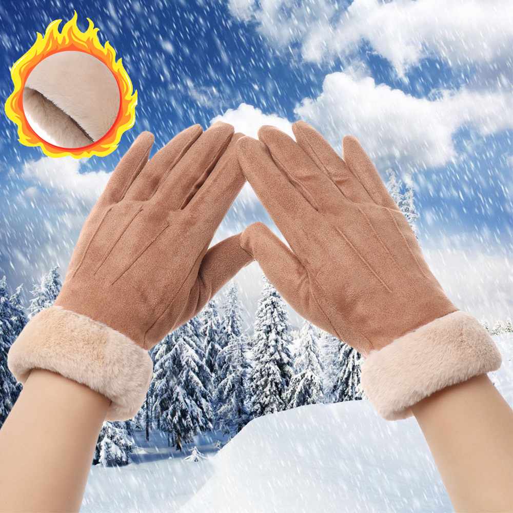 Baby Cartoon Stretchy Mittens Gloves Toddler Magic Gloves Infant Winter Cold Weather Mittens Warm Thicken Full Finger Hand Warmer with String Fleece Lining Handwear for Baby Boys Girls 0-3 Year