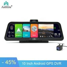 "Anfilite 10 ""4G Auto Dvr Camera Gps Fhd 1080P Android 8.1 Dash Cam Navigatie Adas Auto Video recorder Dual Lens Nachtzicht"