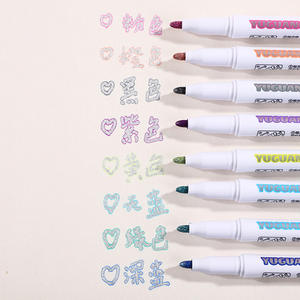 Double-Line Pen Highlighter Hand-Note-Pen Fluorescent-Marker School-Poster Candy-Color