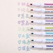 8 шт/компл цветная двойная ручка хайлайтер флуоресцентный маркер
