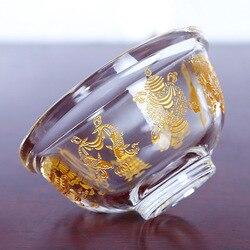 С украшением в виде кристаллов восемь благоприятный воды чаша Тибетский Буддизм для стакана воды чаша подачи воды чаша с одним (8 см)