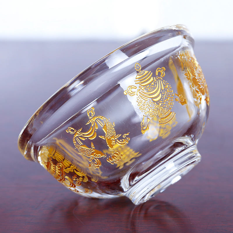 Crystal Eight Auspicious Water Bowl Tibetan Buddhism For The Cup Of Water Bowl Bowl Water Supply Bowl Single 8cm