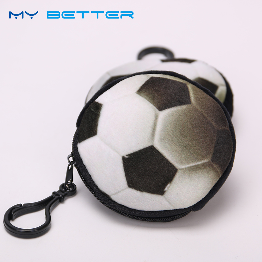 Cute Creative Plush Ball Shape Coin Purse Change Zipper Mini Children Kids Small Wallet Boy For Christmas Gift
