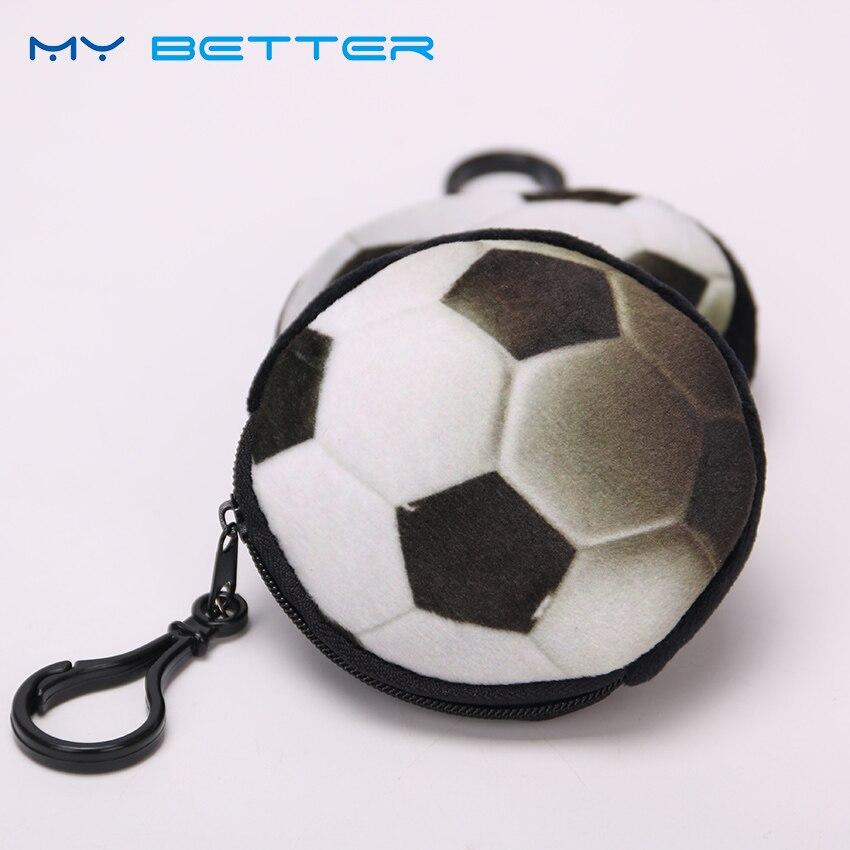 Cute Creative Plush Ball Shape Coin Purse Change Zipper Mini Children Kids Small Wallet Boy For Christmas Gift