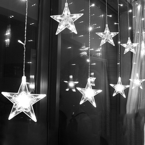2.5M Curtain Light LED Star Ch