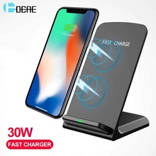 30W Qi Wireless Charger Stand for iPhone 12 11 Pro XS XR X 8 Fast Charging Dock Station for Samsung S10 S20 Phone Quick Charger