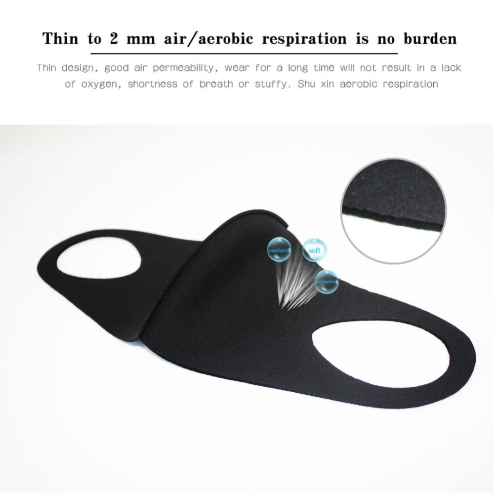 1 pc Washable Unisex Mouth Mask Universal Pollution  Anti Air Dust Flu Smoke Mask With Earloop Respirator Safety Mask Equipments 5